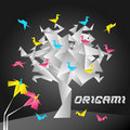 Abstract Origami Tree Stock Photos