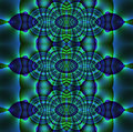 Abstract ornament blue purple green
