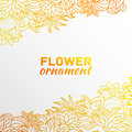 Abstract ornament flower background concept. Royalty Free Stock Photo
