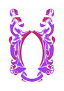 Abstract ornament in lilac and pink colors Stock Image