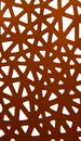 Abstract ornament of red paper