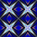 Abstract ornamental kaleidoscopic fractal pattern with glowing stars