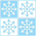 Abstract ornamental tiles illustrated set of tile designs in white and light blue Royalty Free Stock Photography