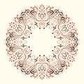 Abstract Ornate Mandala. Decorative frame for design Royalty Free Stock Photo