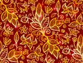 Abstract ornate shining flower seamless pattern Royalty Free Stock Photo