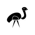 Abstract the ostrich on white background