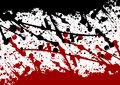 Abstract paint splatter black and red color isolated back