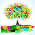 Abstract Painterly Tree Royalty Free Stock Photos