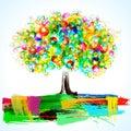 Abstract Painterly Tree Royalty Free Stock Photo