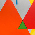 Abstract Painting Art with Geometric Shapes: Colorful Triangles Royalty Free Stock Photo