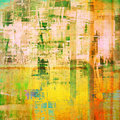 Abstract painting cubism art as grunge Royalty Free Stock Image