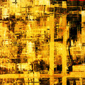 Abstract painting cubism art as grunge Stock Images