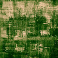 Abstract painting cubism art as grunge green Royalty Free Stock Photography