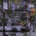 Abstract painting cubism art as old building Royalty Free Stock Image