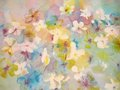 Abstract painting of flowers. Stock Images