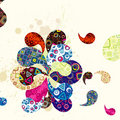 Abstract paisley background Stock Photo