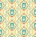 Abstract panda cartoon pattern Royalty Free Stock Image