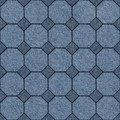 Abstract paneling pattern - seamless pattern, blue jeans texture Royalty Free Stock Photo