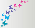 Abstract Paper Cut Out Butterfly Background. Vector Illustration Royalty Free Stock Photo