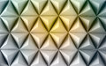 Abstract paper poly made from tetrahedron background. Yellow Royalty Free Stock Photo