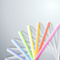 Abstract paper rainbow ribbons on gray background Royalty Free Stock Image