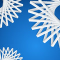 Abstract paper ribbons on blue background Stock Image