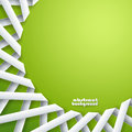 Abstract paper ribbons on green background Royalty Free Stock Photography