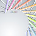 Abstract paper ribbons rainbow on gray background Stock Photo