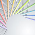 Abstract paper ribbons rainbow on gray background Stock Image