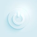 Abstract paper style power button vector icon. Switch off symbol. Royalty Free Stock Photo