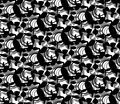 Abstract Patter Black on White. Royalty Free Stock Photo