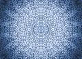 Abstract pattern background blue ornamental radial Stock Images
