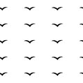 Abstract pattern with birds v pattern background vector illustration handdrawn birds Royalty Free Stock Images