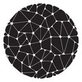 Abstract pattern of black geometric elements grouped in a circle Royalty Free Stock Photo