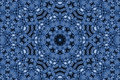 Abstract pattern blue background with radial Stock Image
