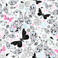 Abstract pattern with butterflies Royalty Free Stock Photos