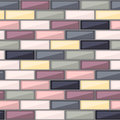 Abstract pattern with colorful brick elements Royalty Free Stock Photo