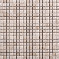 Seamless Earth-colored retro square marble Mosaic pattern Royalty Free Stock Photo