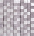 Seamless white square marble and glass Mosaic pattern Royalty Free Stock Photo