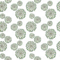 Abstract pattern with hand drawn green flowers. Used for textile, wrapping paper, wallpaper, scrap booking, background for
