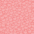 Abstract pattern with hearts vector illustration Royalty Free Stock Photography