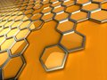 Abstract pattern of honeycombs d rendering stylized Stock Photos