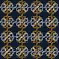 Abstract pattern with interlacing and knots seamless Stock Photos