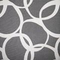 Abstract pattern of interlocking circles irregular white on a grey lived background Royalty Free Stock Photography