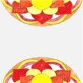 Abstract pattern mandala watercolor