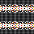 Abstract pattern with mosaic Stock Photography