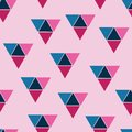 Vector triangle seamless pattern background Abstract Seamless Pattern. Seamless Pattern with Triangles. Pink and Blue