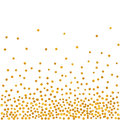 Abstract pattern of random falling golden dots Royalty Free Stock Photo
