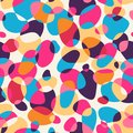 Abstract pattern seamless in bright colors vector illustration Royalty Free Stock Photos