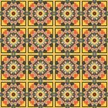 Abstract pattern seamless colorful geometric arabesque style Royalty Free Stock Photography